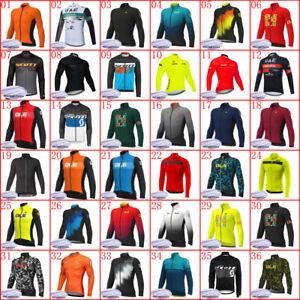 Men Winter Cycling Jersey 2021 Thermal Fleece Bike Shirt Warmer Bicycle Clothing