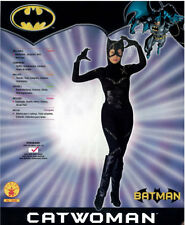DC Comics Deluxe Catwoman Leatherlook Costume Womens Sexy Batman Std Halloween