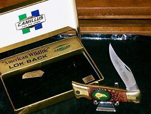 "Camillus USA #11 Lockback Knife American Wildlife ""The Bear"" W/Packaging Rare"