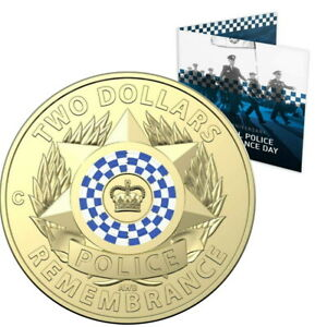 🔥2019 Australia $2 UNC Carded 'C' RAM Coin - ' Police Rememberance Day '