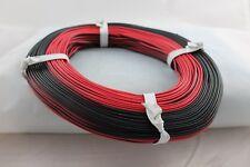 Modellbahn Zwillingslitze, 0,14; ---NEU---50m Ring; rot/schwarz;---NEU---