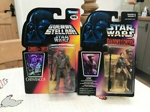 90's Kenner Star Wars Shadows of the Empire Chewbacca & Leia Figures Bundle/Lot