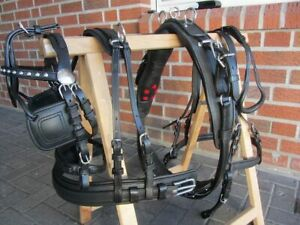 Quick out Einspänner Brustblattgeschirr, schwarz  Gr K-Pony Leder, Diplomat