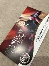 **BARRY MANILOW UK LONDON O2 ARENA COMPETITION PROMO CARD 2018*