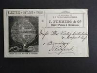 India: 1902 Fleming Electric Ceiling Fans Advertising Cover to New York City