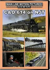 C&O 614 ON NJT MAIN LINE MOTION PICTURES NEW DVD VIDEO