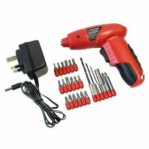 4.8V Cordless Rechargeable Screwdriver + Accessories And Charger Amtech V257 NEW