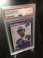 """1989 DONRUSS KEN GRIFFEY JR. RATED ROOKIE #33 PSA 9 MINT HALL OF FAME  """"THE KID"""""""