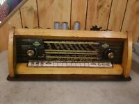 Vintage NORMENDE arabella T.Nr.E 820 chasis tube radio parts /repair Estate find