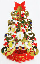 Christmas Tree w/ Glow in the Dark Stars Pop Up Greeting Card / Christmas Card