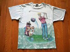 New listing Vintage Grateful Dead T-Shirt 1994 Pga Golf Tour Skeleton & Dancing Bears Large