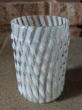 Antique Model Flint Opalescent White Swirl Glass Tumbler