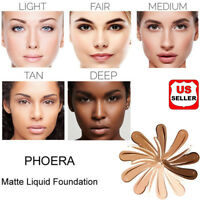 PHOERA Foundation Makeup Full Coverage Fast Base Brighten long-lasting Shade US