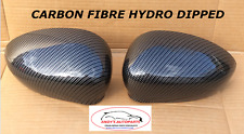 FIAT 500 2007 ONWARDS PAIR WING MIRROR COVERS CARBON FIBRE HYDRO DIPPED