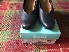 Van-Dal Ladies Navy  LeatherCabin Crew court Shoes Size 6