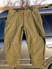 Canadian Army Lightweight Combat Pants OD Green Size 7344 Excellent!