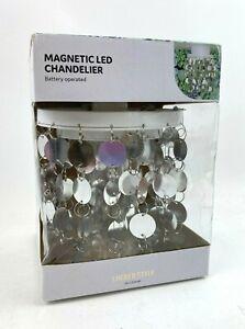 New LOCKER STYLE Magnetic LED Chandelier LIGHT UBrands SILVER Shiny SCHOOL