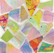100 pieces of Pastel Colored mosaic glass pieces by Makena Tile