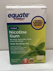 Equate Nicotine Polacrilex Gum Cool Mint Flavor 4mg 100 Pieces 3/22+