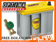 NEW OPTIMA D51 YELLOW TOP DRY CELL DEEP CYCLE NON SPILLABLE 12V BATTERY
