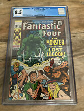 Fantastic Four #97 CGC 8.5 - 1970 - Kirby Giacoia. Monster Lagoon - White Pages!