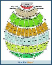 8:00 PM 6th Row CA 2 Concert Tickets