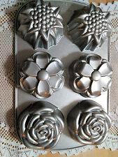 Nordic Ware Bouquet Pan - 6 Cup Mini Bundt Muffin Cupcake Baking Pan #55248