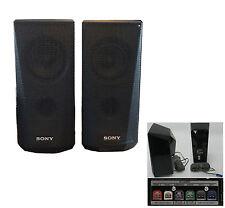SONY 2 Bookshelf Speakers for Blu-Ray 3D 4K Home Cinema 460W 3ohm+cable/plug