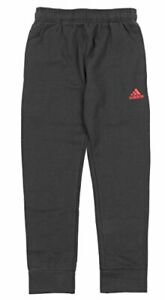 Adidas Youth Game Ready Team Sweat Pants, Grey/Scarlet