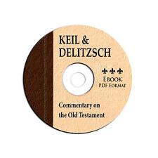 NEW Keil & Delitzsch Old Testament-Bible Commentary-Christian Study-CD eBook PDF