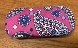 Vera Bradley Pink / Purple Paisley Hard Case Eyeglass Case
