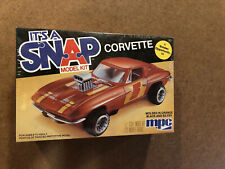 Mpc It's A Snap Model Kit Corvette - Made In Usa 1982 - New Old Stock