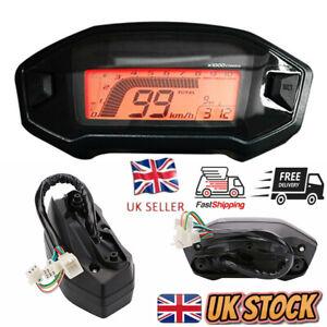 Universal Motorcycle Backlight LCD Digital 13000rpm Speedometer Meter Odometer
