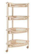 Plástico de 4 niveles estante de la esquina almacenamiento Caddy ducha Cocina Organizador Rack cesta