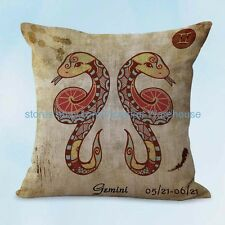 US SELLER, throw pillows covers for sofa gemini Zodiac cushion cover