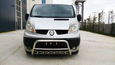 RENAULT TRAFIC CHROME AXLE NUDGE A-BAR, BULL BAR 2015 ONWARDS