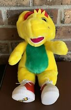 Vtg 90s 1994 Lyons Group Barney Plush BJ Yellow Dinosaur CLEAN With Sneakers