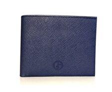 Giorgio Armani Men's Navy Saffiano Leather Bi-Fold Wallet