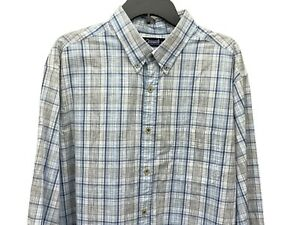 NWT Gold Label Roundtree York L Sleeve Black Check Button Down Shirt XLT NEW $79