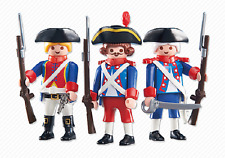 Playmobil 3 French Soldiers 6436 series mint in BAG NEW add on France 158