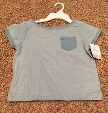 NWT Carter's Girls Blue Cotton Pocket Top Shirt SZ 6 READ SHIP