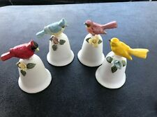 Vintage Porcelain Bells With Birds - Price Products Bellmawr Nj - Set Of 4