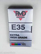 Paquete De 4 PMD 35 Min E35 en Blanco Vídeo VHS Cinta De Casete-totalmente Nuevo