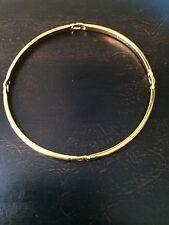 Vintage Monet Signed Gold Tone Open Design Bangle Bracelet