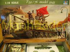 1/16 Trumpeter T-34 / 76  Soviet Russian  1943 WWII  Tank  Plastic Model Kit