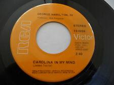 "GEORGE HAMILTON IV NM Carolina In My Mind 45 I'm Gonna Be A Country Boy Again 7"""