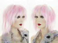 Medium Straight Costume Fun Color Wigs
