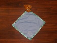 Kids II Brown Bear Blue Security Blanket Thank Heaven for Little Boys