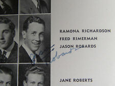 """1939 JASON ROBARDS SIGNED 4X HOLLYWOOD HIGH SCHOOL YEARBOOK """"POINSETTIA"""" LA CA"""