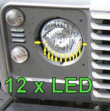 "Nuevo 7"" Luces LED DRL Estilo Cabeza Redonda Land Rover Defender 90 100 110 Faros"